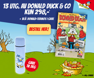 13 utgaver av Donald Duck & Co + Blå termos i gave
