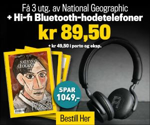 3 utg National Geographic + Hi-fi Bluetooth-hodetelefoner